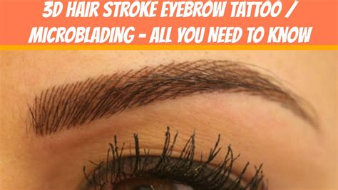 does hair stroke eyebrow tattoo microblading hurt very