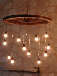 Wheel Chandelier Light Random Length Wagon Wheel Chandelier Large