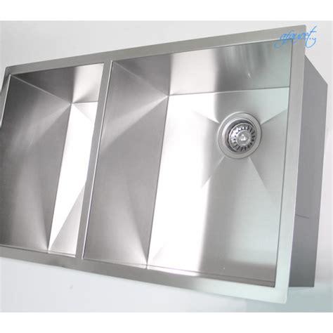 Zero Radius Kitchen Sink 32 Inch Stainless Steel Undermount 40 60 Bowl Kitchen Sink Zero Radius Design