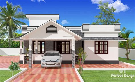 Homes Plans With Photos by 1153 Sq Ft Single Floor 3 Bedroom House Kerala Home Design