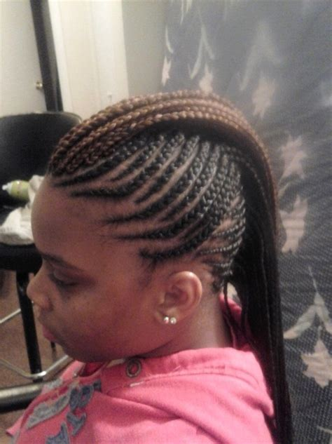 mohawk with braids and weave awahair home