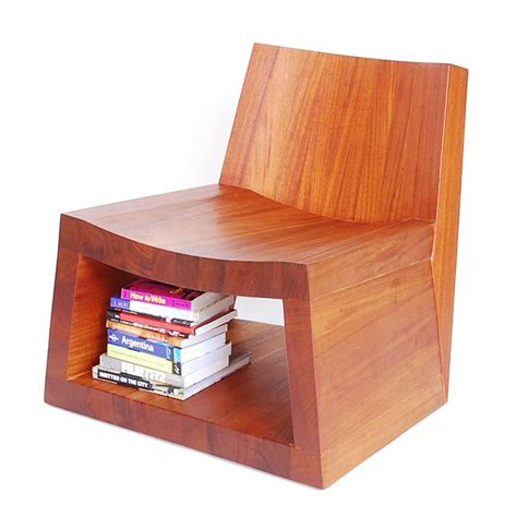 wooden storage seating mode lounge chair