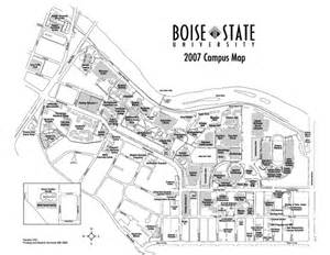Boise State Map by Boise State University Map Boise Idaho Mappery