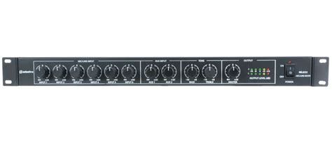 1u Rack Mixer by Citronic Ml622 1u Mic Line Rack Mixer 953 026uk