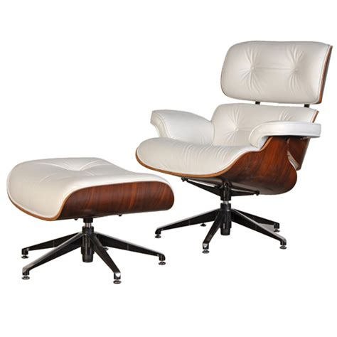 eames lounge chair white leather rosewood eames style lounge chair ottoman premium top