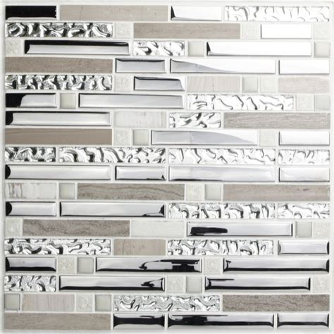 stainless steel and glass tile backsplash silver stainless steel and glass tile textured marble