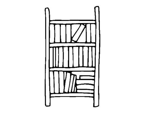 scaffale libri disegno di scaffale per libri da colorare acolore