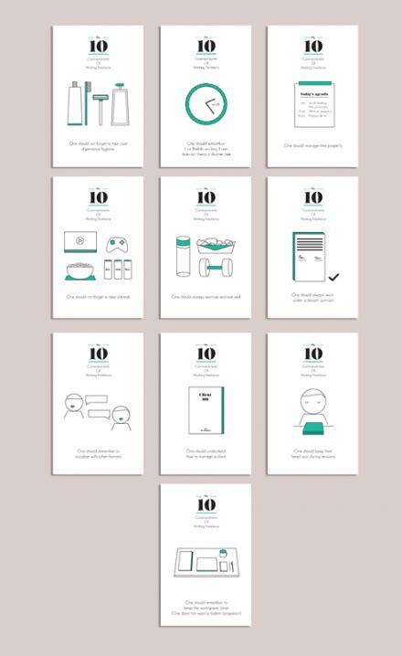 designtaxi mockup postcard set 10 commandments of working freelance by