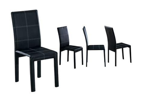 chaise en cuir noir chaise de cuisine cuir noir