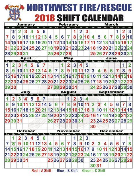 Calendar B C Shift Schedules Northwest District