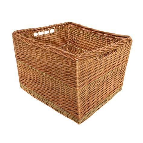 Buy somerset rectangular wicker log basket from the basket company