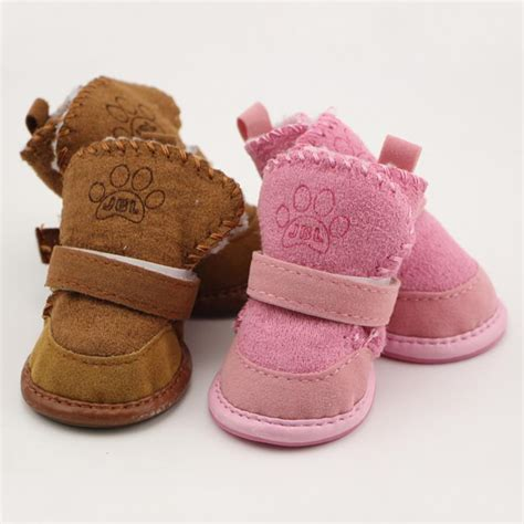 non slip shoes teddy pet thick soft bottom snow boots