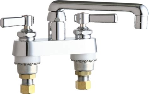chicago faucets 891 abcp chrome deck mounted laundry