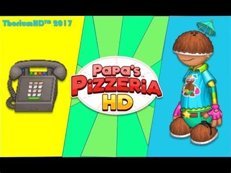 s day hd part 1 papa s pizzeria hd part one day 1 7 new customer