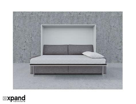 horizontal wall bed with sofa murphysofa clean horizontal queen expand furniture