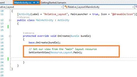 xamarin relativelayout c create a relative layout in xamarin android app using