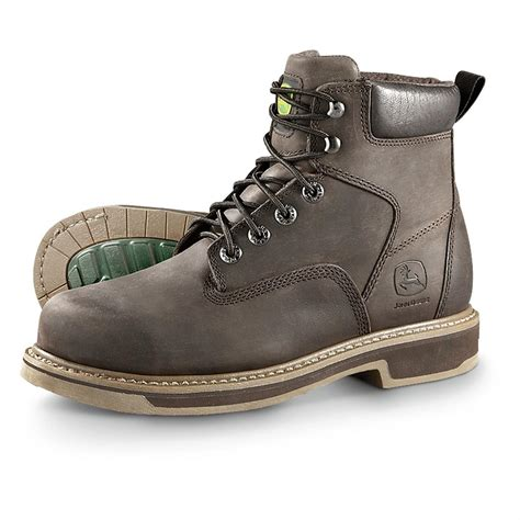 s deere boots s deere 174 6 quot steel toe work boots brown