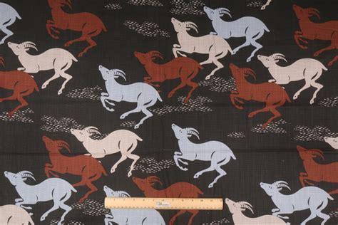 cervan curtain fabric 3 4 yard robert allen caravan printed cotton drapery fabric