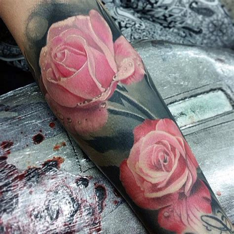 realistic pink rose tattoo best tattoo ideas