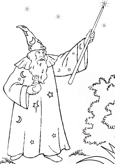free coloring pages of animals wizard