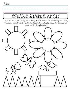 printable hidden shapes pictures identifying shapes worksheets kindergarten 3d shapes