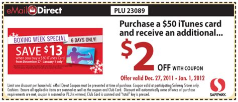 printable coupons for itunes gift cards itunes gift card discount coupon