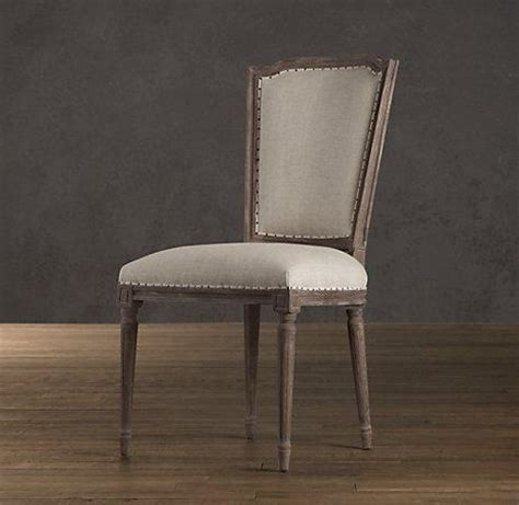 vintage nailhead upholstered side chair dining