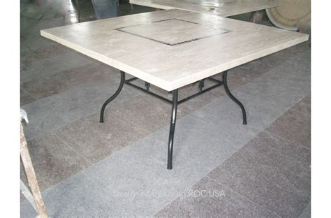 55 quot square stone outdoor patio marble dining table capri