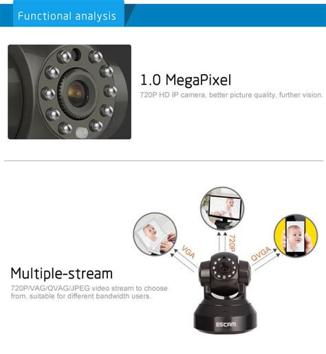 Escam Pearl Qf100 Wireless Ip Cctv For Android And Ios Murah escam black pearl qf100 1 4 inch cmos 720p p2p ip dome