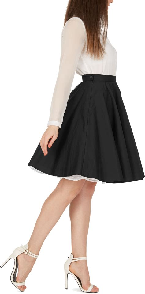 1950s swing skirt vintage rockabilly full circle pin up 1950 s flared swing