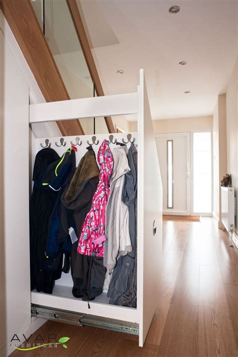 coat storage ideas best 20 stair storage ideas on pinterest under stair
