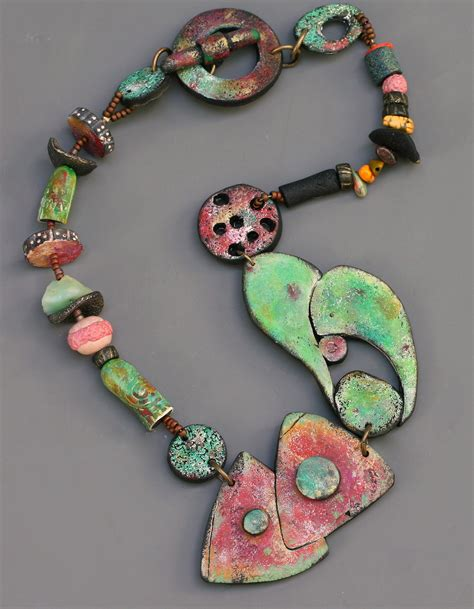 Rusty Garage Polymer Clay Necklace ? Jewelry Making Journal