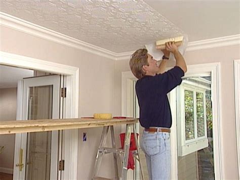 Building Ceiling Design How To Apply An Embossed Wallpaper Ceiling Treatment