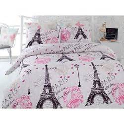 Eiffel Tower Duvet Set Paris Themed Bedding
