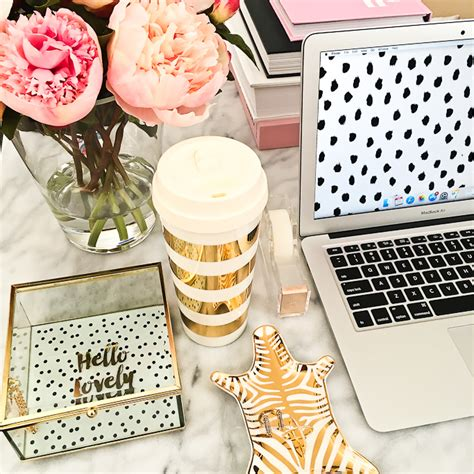 pink and gold desk accessories reviews and weekly stylish