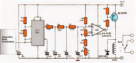 capacitor circuit switch touch free faucet circuit electronic circuit projects
