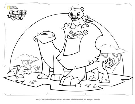 animal family coloring page animal jam coloring page lion family by digiponythedigimon