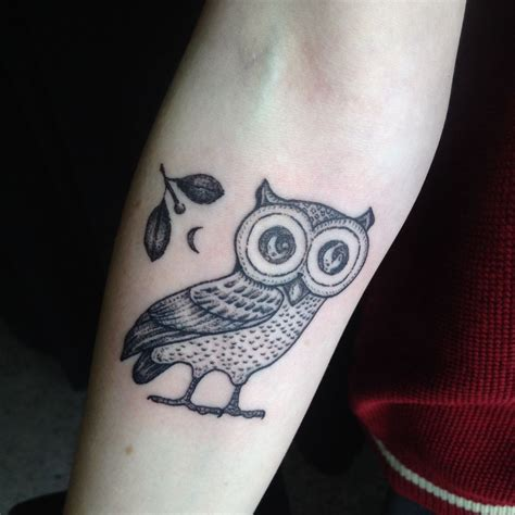 chronic ink tattoo zeke owl of athena done by zeke at chronic ink you made me