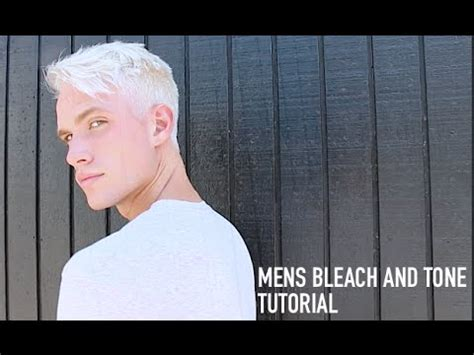 males getting bleached and bobbed how to platinum blonde hair youtube