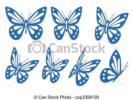 imagenes vectores mariposas eps vectores de mariposas conjunto vector siluetas de