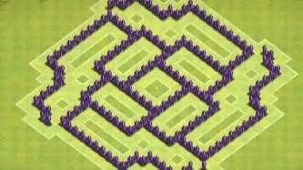 Clash of clans th 7 trophy base clan wars base shockwave youtube