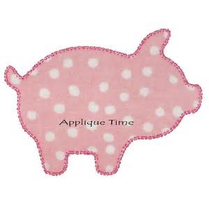 Pig Outline Embroidery Designs by Instant Pig Silhouette Machine Embroidery By Appliquetime