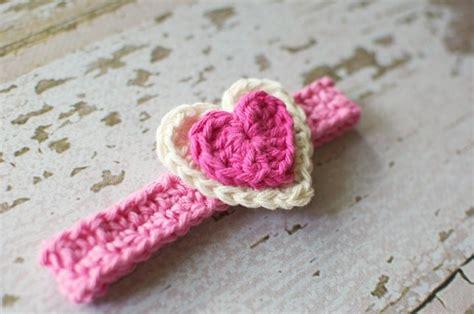 crochet pattern heart headband crocheted heart headband headbands pinterest