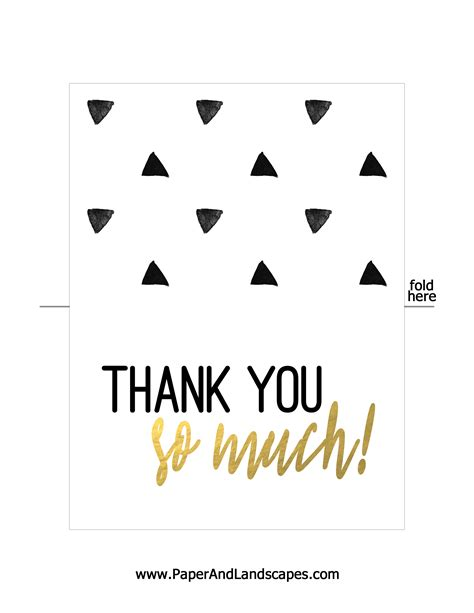 Thank You Card Template To Print Free by Free Printable Thank You Cards Paper And Landscapes