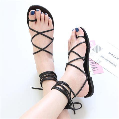 Murah Sandal High Heels Wanita Hitam Tali Sdh25 sandal wanita bertali terbaru desain cantik modern