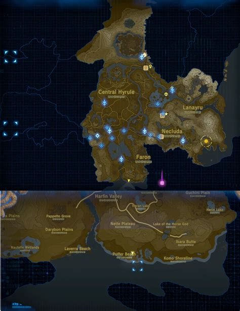 Legend Of The Breath Of The Map the legend of breath of the detailed map images reveals further locations