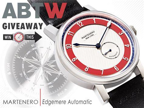 Watch Giveaway - watch giveaway martenero edgemere automatic the awristocrat magazine