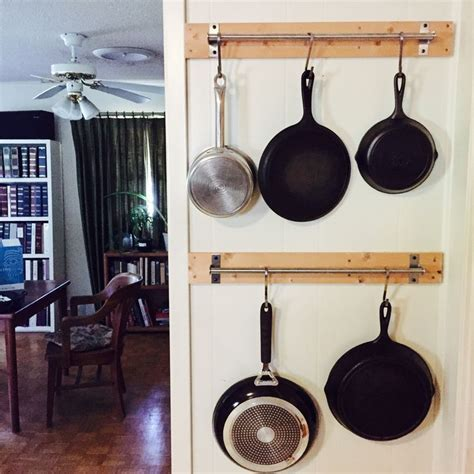 Pot Hanging Rod 25 Best Ideas About Hanging Pans On Hanging