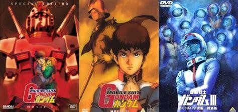film anime gundam gundam tv series vs movie trilogy anime amino
