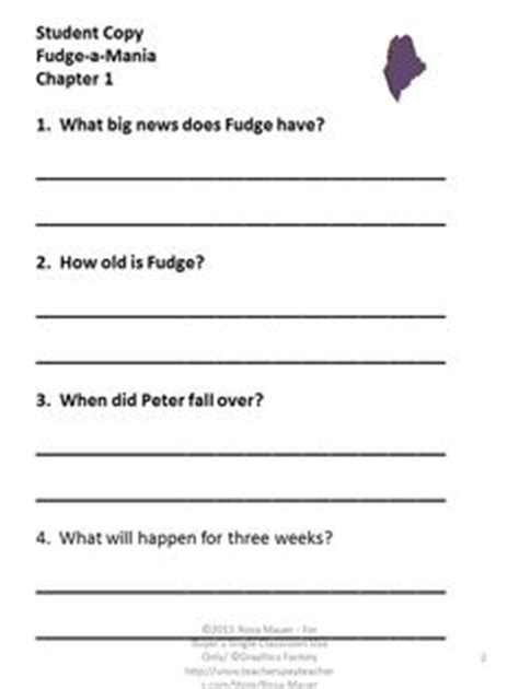 Double Fudge Reading Comprehension | Third Grade Think